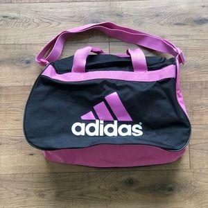 Adidas Pink & Black Duffle Bag